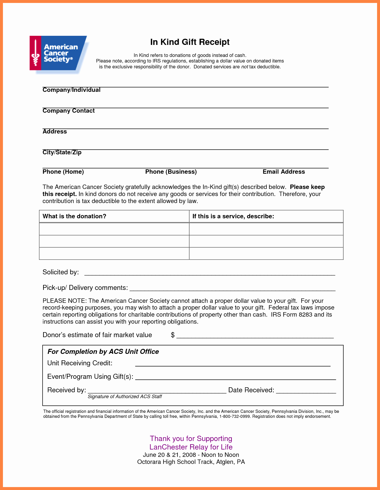 Printable Sales Receipt Pdf Awesome 4 Donation Slip Template