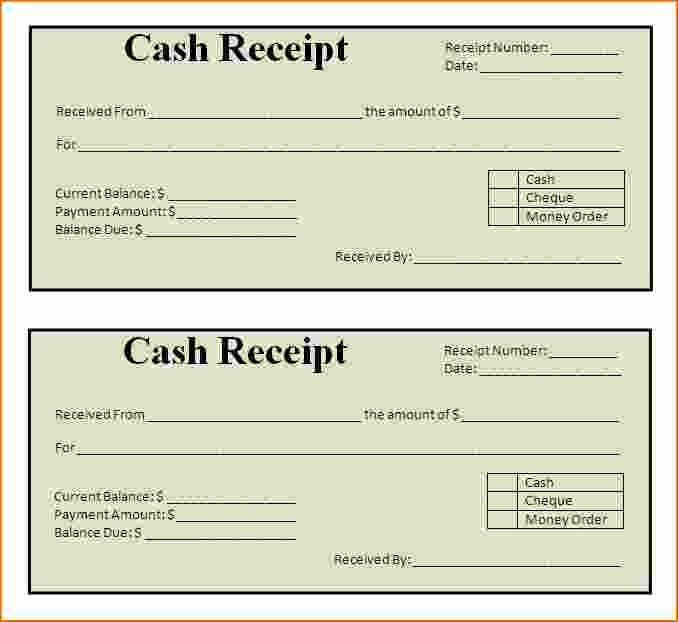 Printable Sales Receipt Pdf Beautiful Free Printable Cash Receipt Template