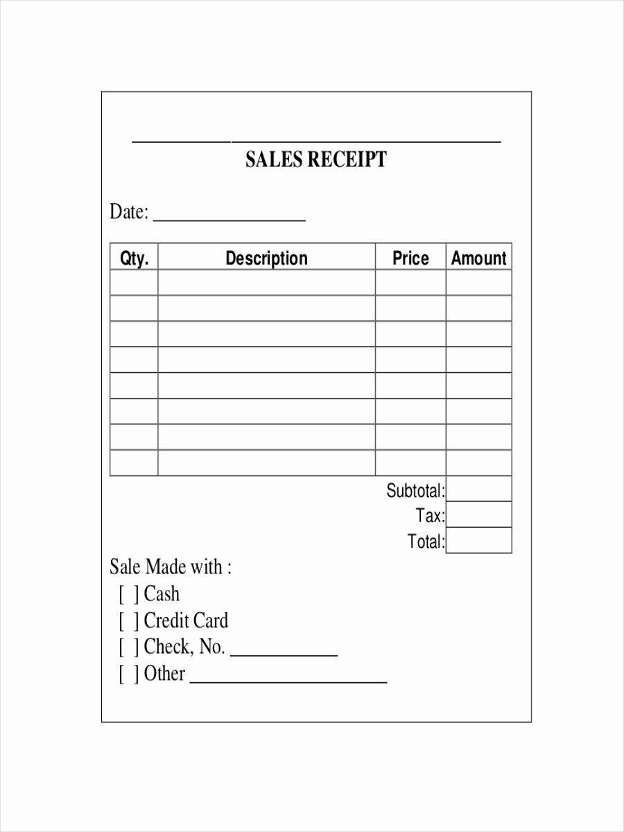 Printable Sales Receipt Pdf Elegant 10 Sales Receipt Examples & Samples Pdf Word Pages
