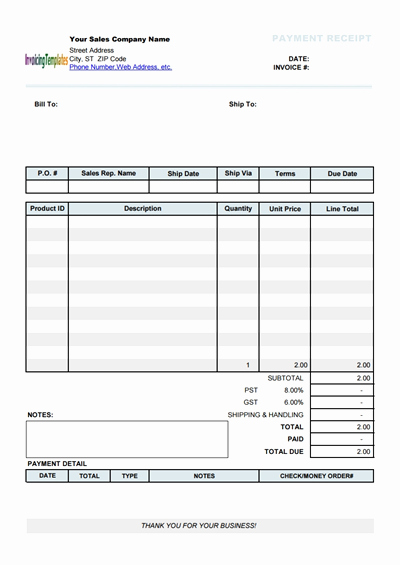 Printable Sales Receipt Pdf New Free Payment Receipt Template Download Wondershare Pdfelement