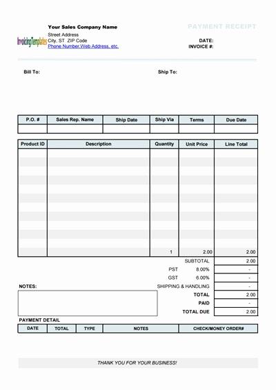 Printable Sales Receipt Pdf New Free Payment Receipt Template Download Wondershare Pdfelement