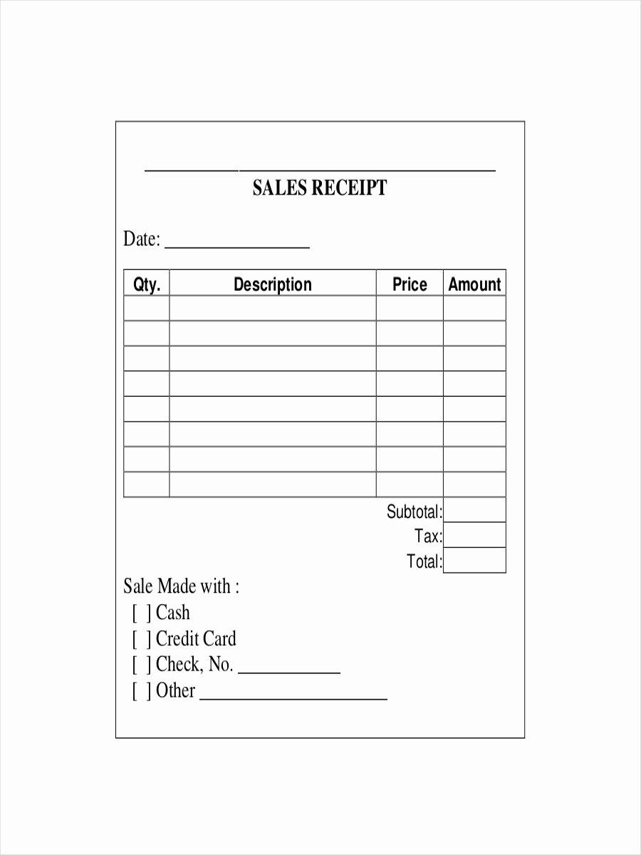Printable Sales Receipt Pdf Unique 28 Receipt Examples & Samples