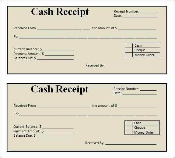 Printable Sales Receipt Pdf Unique Blank Receipt Template