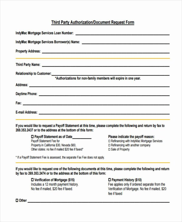 Private Mortgage Payoff Letter Inspirational Mortgage Payoff Statement form Design Templates