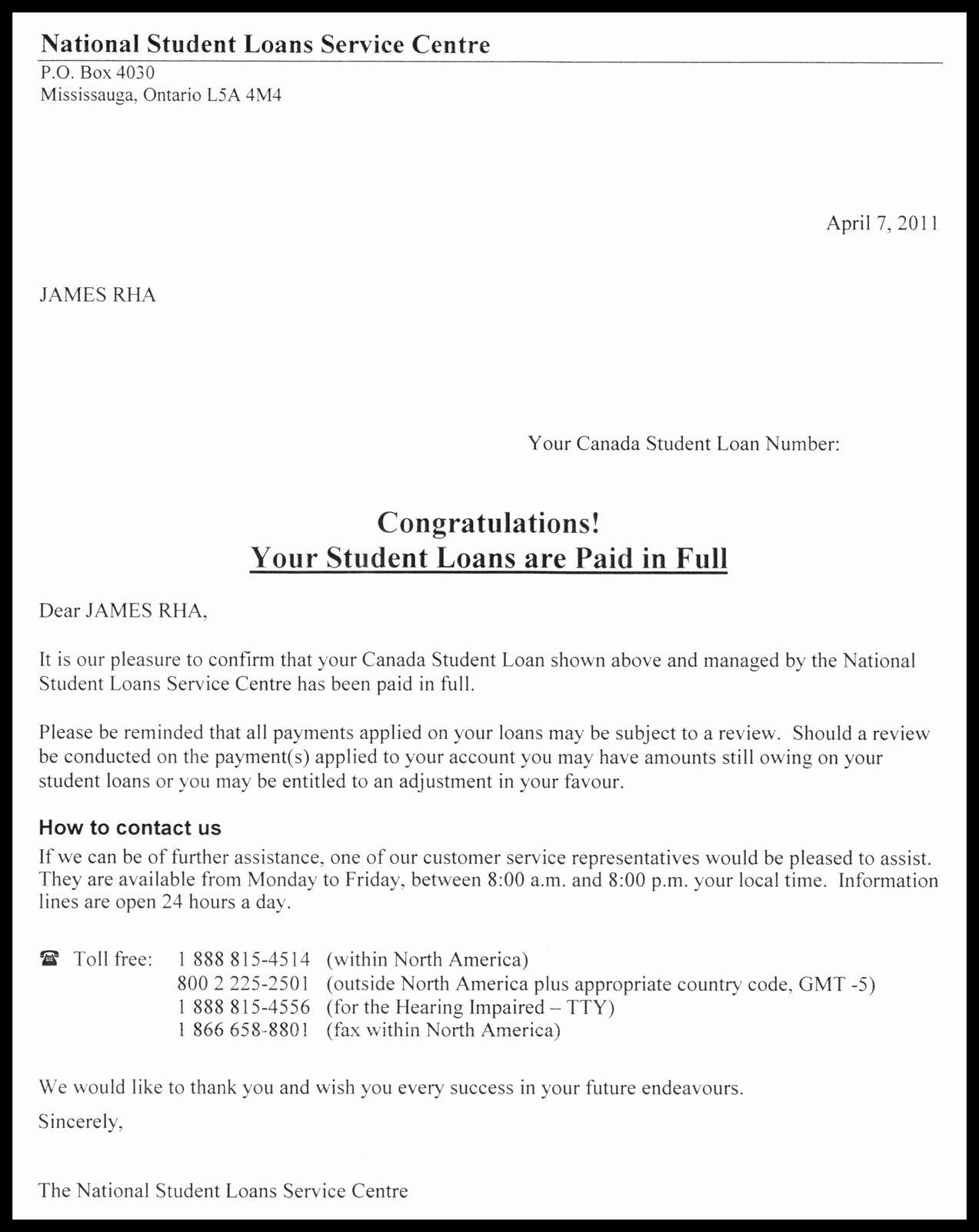 Private Mortgage Payoff Letter Luxury Ra Ra Rasputin $11 084 75