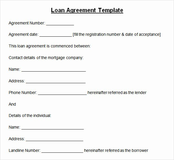 Private Mortgage Payoff Letter Template Elegant 10 Sample Standard Loan Agreement Templates