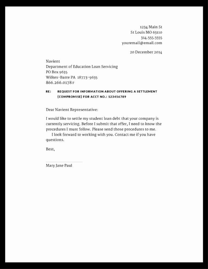 Private Mortgage Payoff Letter Template Inspirational Student Loan attorney St Louis Missouri