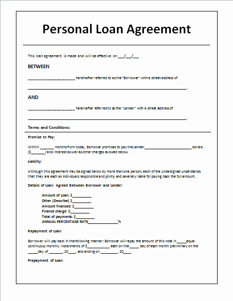 Private Mortgage Payoff Letter Template Unique 45 Loan Agreement Templates & Samples Write Perfect