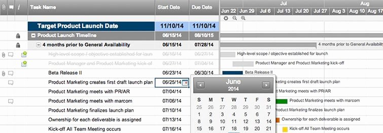 Product Launch Plan Template Excel Awesome Line Gantt Chart software