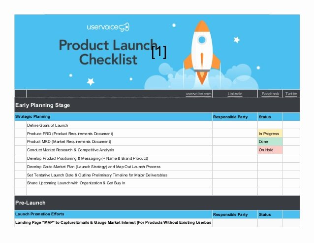 Product Launch Plan Template Excel Awesome Product Launch Checklist Template Checklist