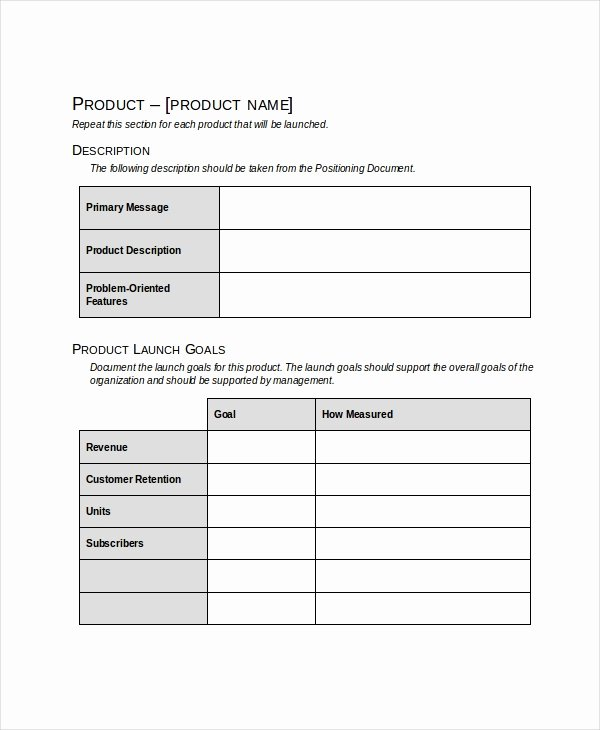 Product Launch Plan Template Excel Unique Product Launch Plan Template 10 Free Word Pdf Document
