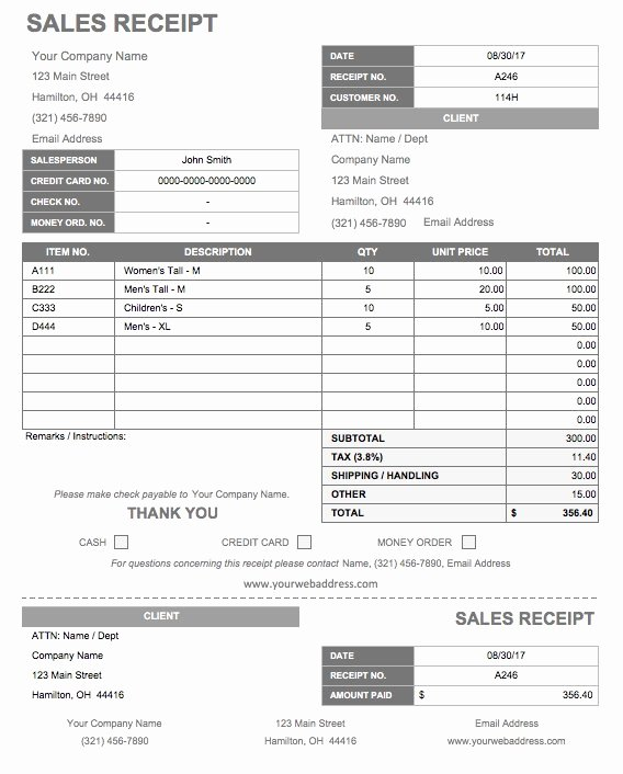 Product Purchase Receipt Number Luxury 13 Free Business Receipt Templates Smartsheet