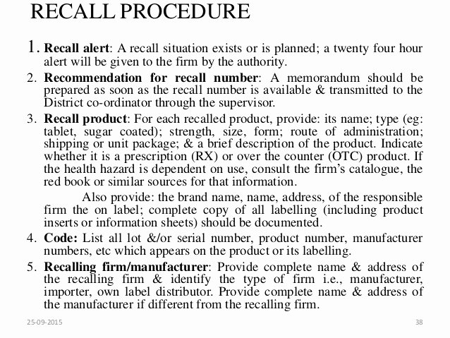 Product Recall Plan Template Beautiful Market Plaints and Product Recall