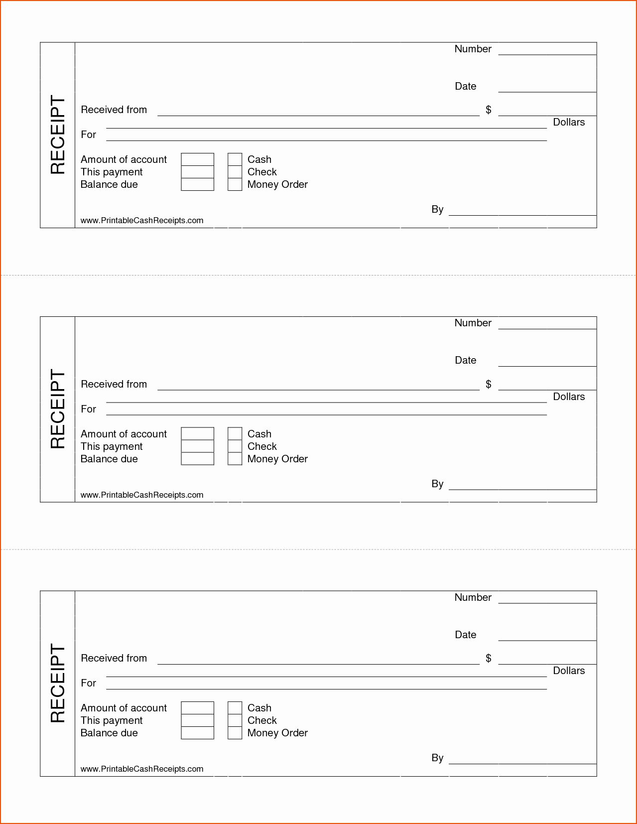 Product Received for Free Awesome 7 Printable Cash Receipt Bookletemplate