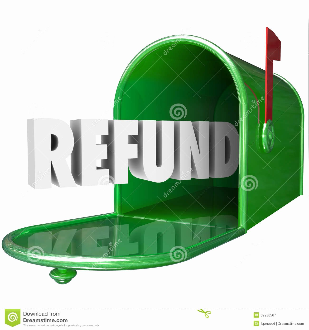 Product Received for Free Beautiful Refund Word Receive Money Back Mailbox Delivery Tax