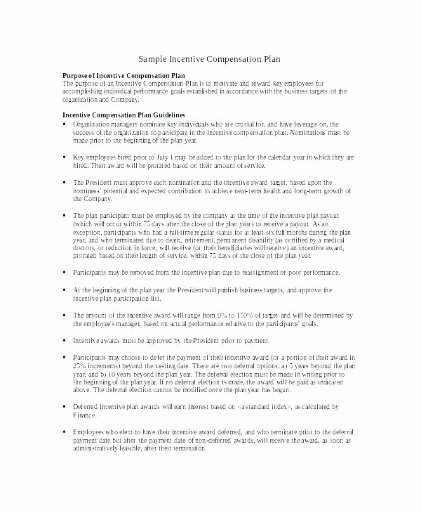 Professional Compensation Plan Template Beautiful Employee Pensation Plan Template Recruitment Agency