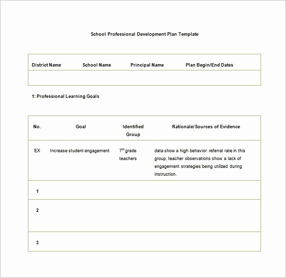 Professional Development Plan Template Awesome Development Plan Template 14 Free Word Pdf Documents