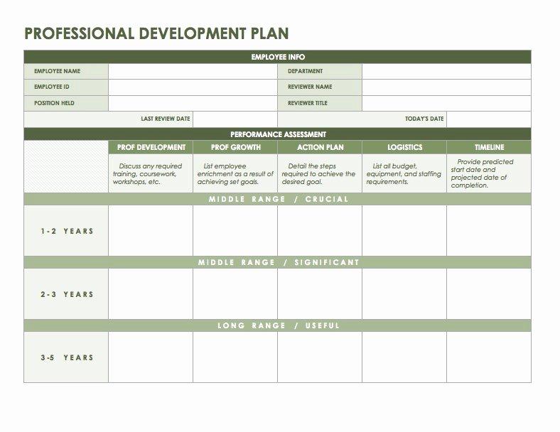 Professional Development Plan Template Inspirational Free Microsoft Fice Templates Smartsheet