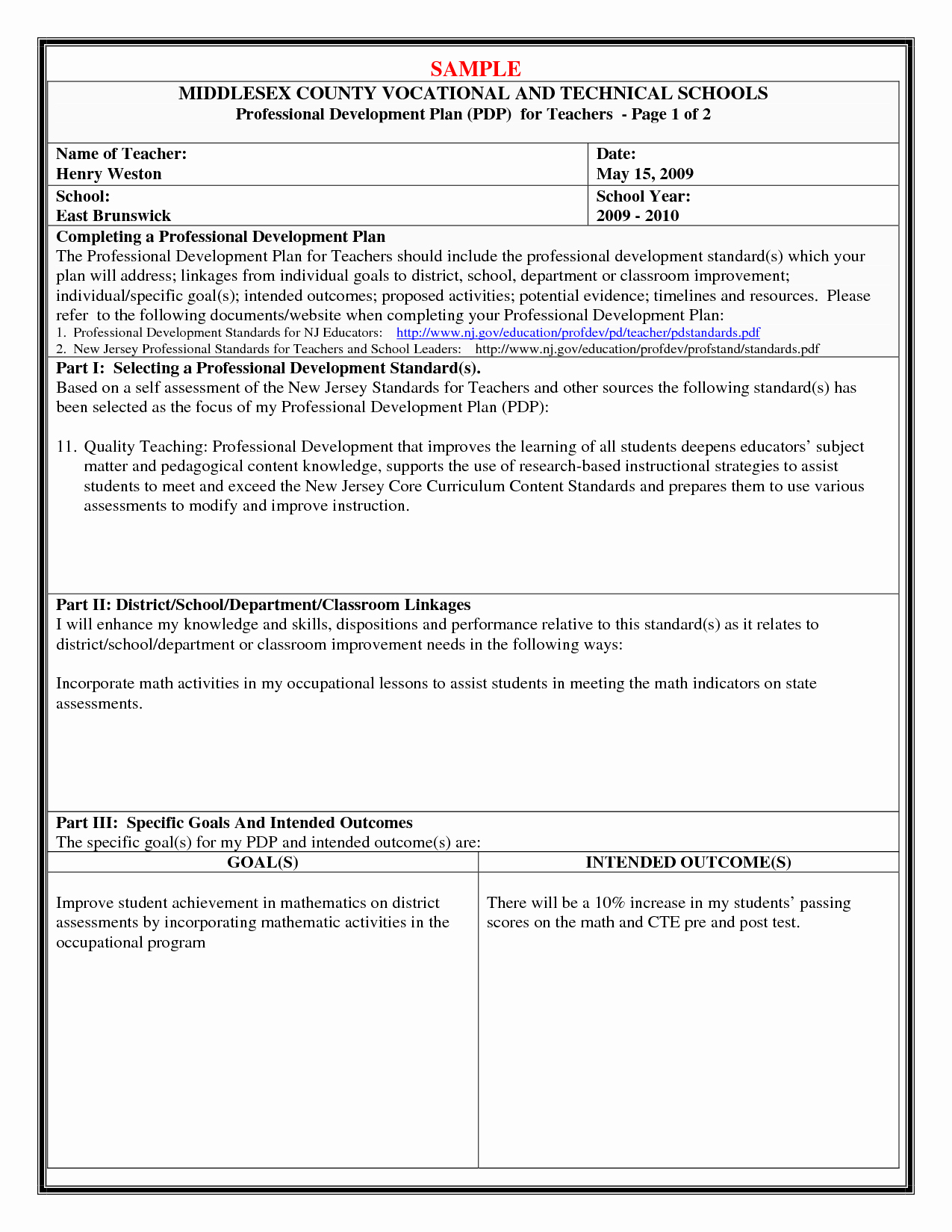 Professional Growth Plan Template Beautiful How to Write A Professional Development Plan Examples