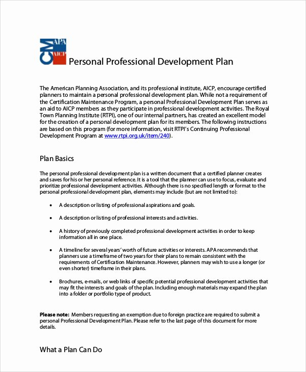 Professional Growth Plan Template Elegant 10 Professional Development Plan Samples