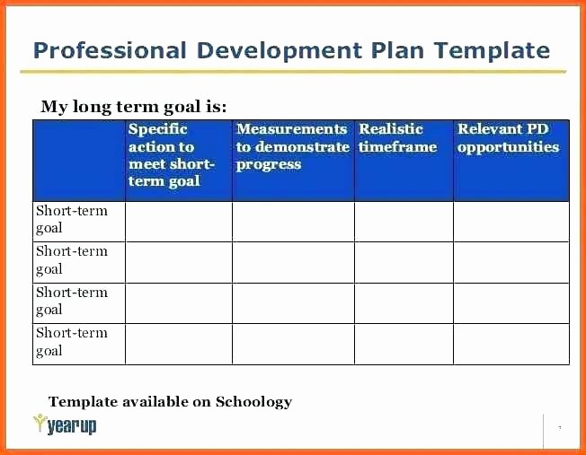 Professional Growth Plan Template Elegant Professional Action Plan Template