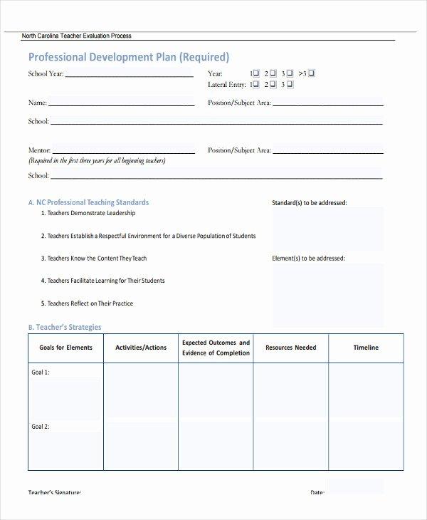 Professional Growth Plan Template Fresh 26 Development Plan Templates Pdf Word