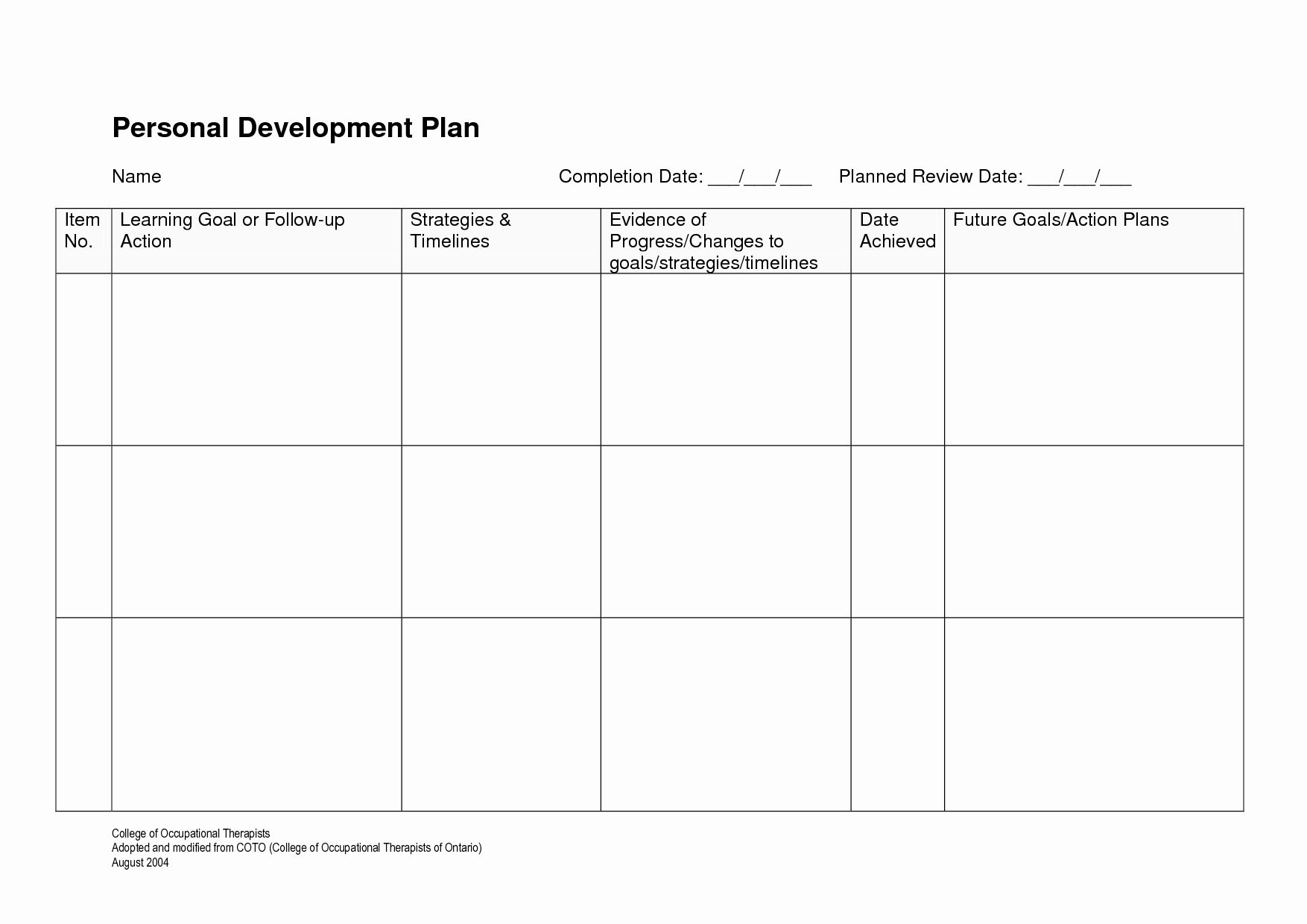Professional Growth Plan Template New 22 Of Staff Professional Development Plan Template