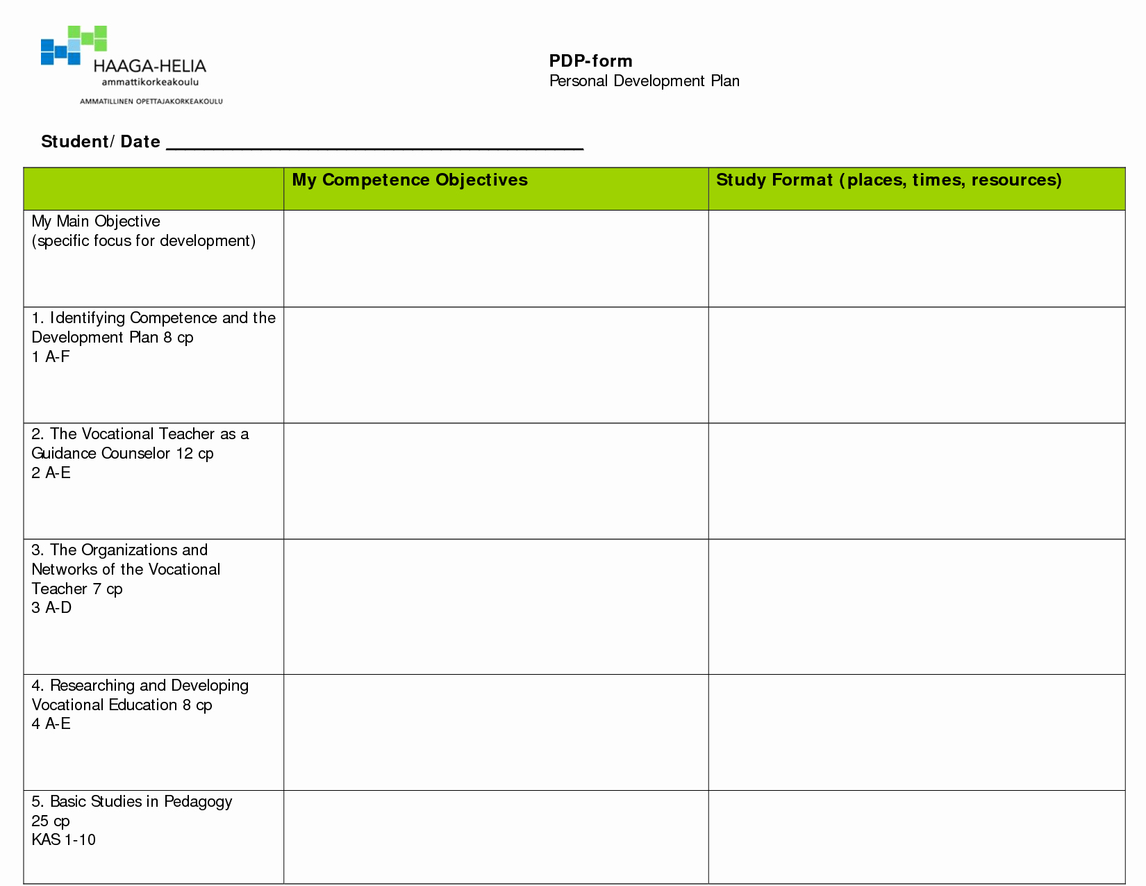Professional Growth Plan Template New Professional Growth Plan Template for Teachers Cover
