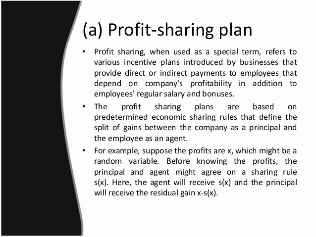 Profit Sharing Bonus Plan Template Luxury Pay for Performance