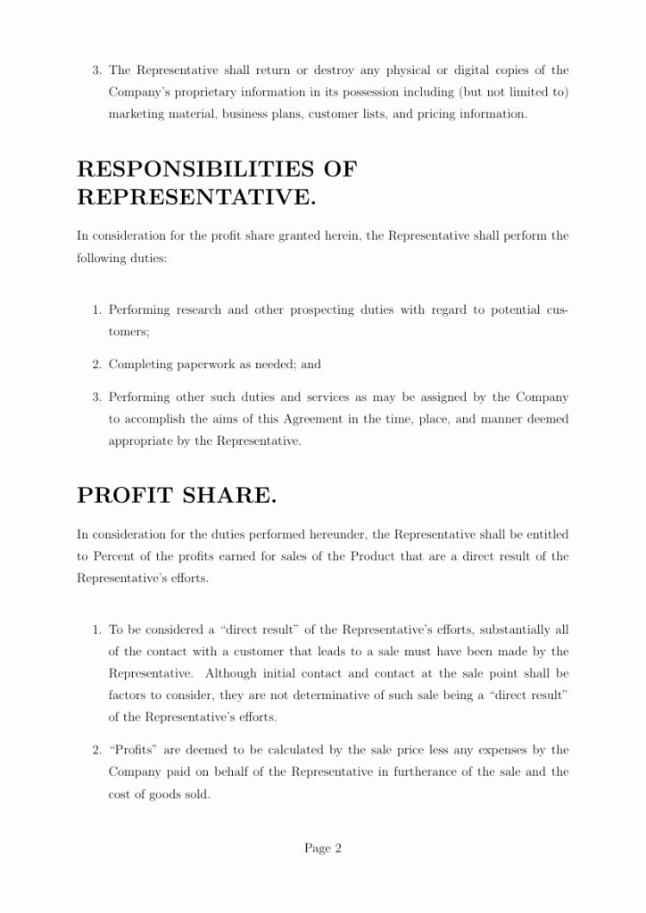 Profit Sharing Plan Template Fresh Templates Profit Sharing Agreement Template