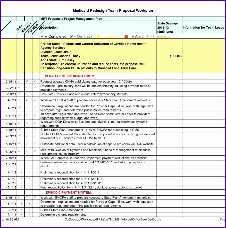 Programme Implementation Plan Template New 7 Excel Implementation Plan Template Exceltemplates