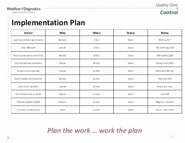 Programme Implementation Plan Template Unique Ponents A Project Implementation Plan Templates C