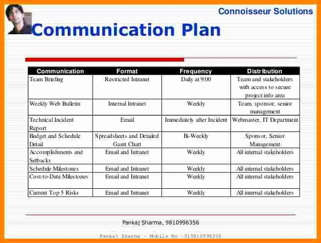 Project Communication Plan Template Beautiful 11 Munication Plan Project Management