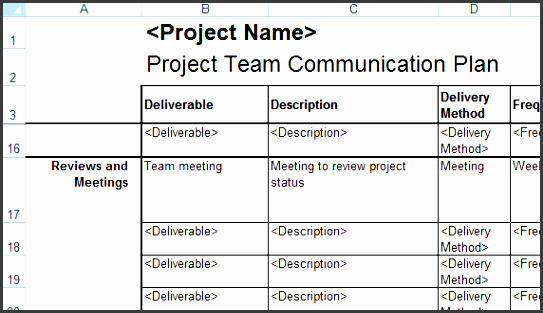 Project Communication Plan Template Excel New 6 How to Make Project Team Munication Planner In Excel