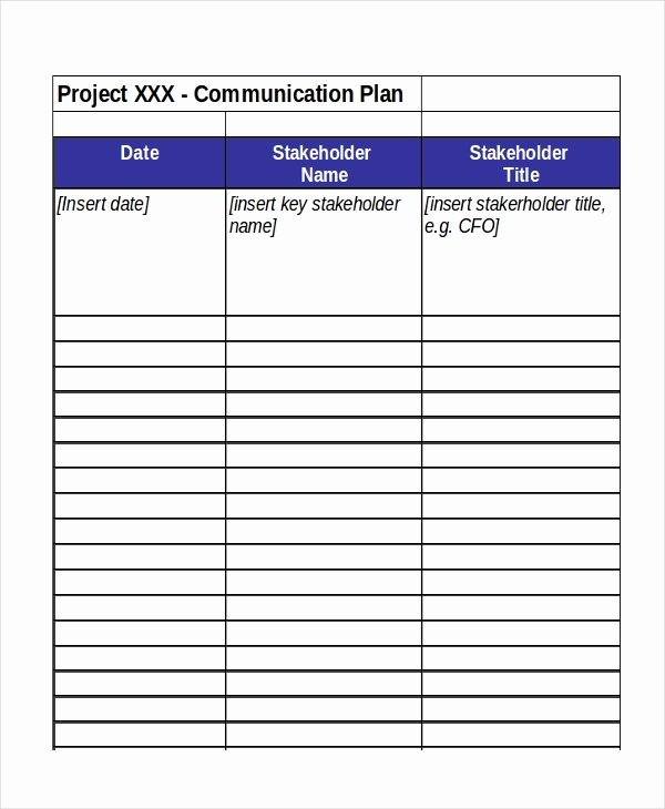 Project Communication Plan Template Excel New Excel Project Plan Template 10 Free Excel Document