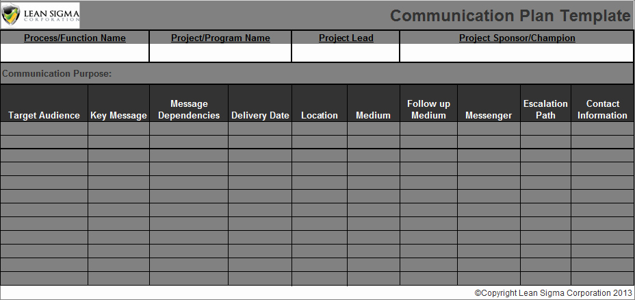 Project Communication Plan Template Excel New Munication Plan Template