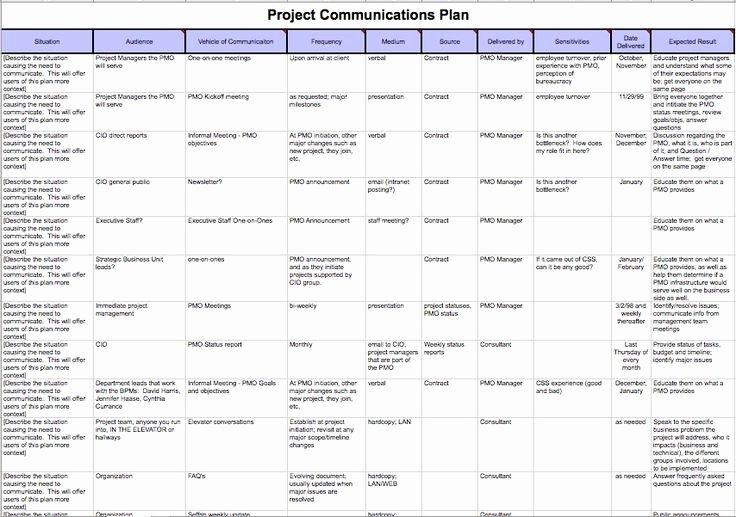 Project Communication Plan Template Unique Download Pmbok Project Management Plan Template