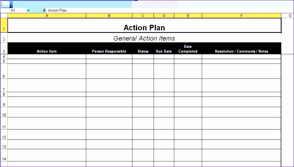 Project Implementation Plan Template Excel Awesome 6 Project Action Plan Template Excel Exceltemplates