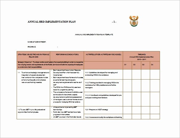 Project Implementation Plan Template Fresh 8 Implementation Plan Templates Word Google Docs