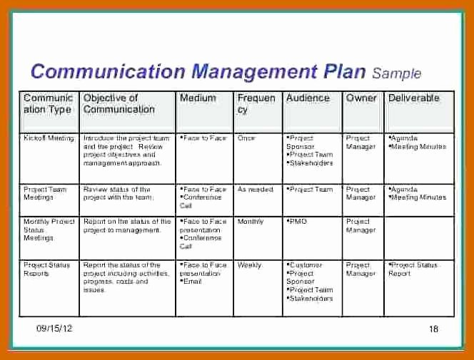 Project Management Communication Plan Template Awesome 1 2 Munication Plan Example