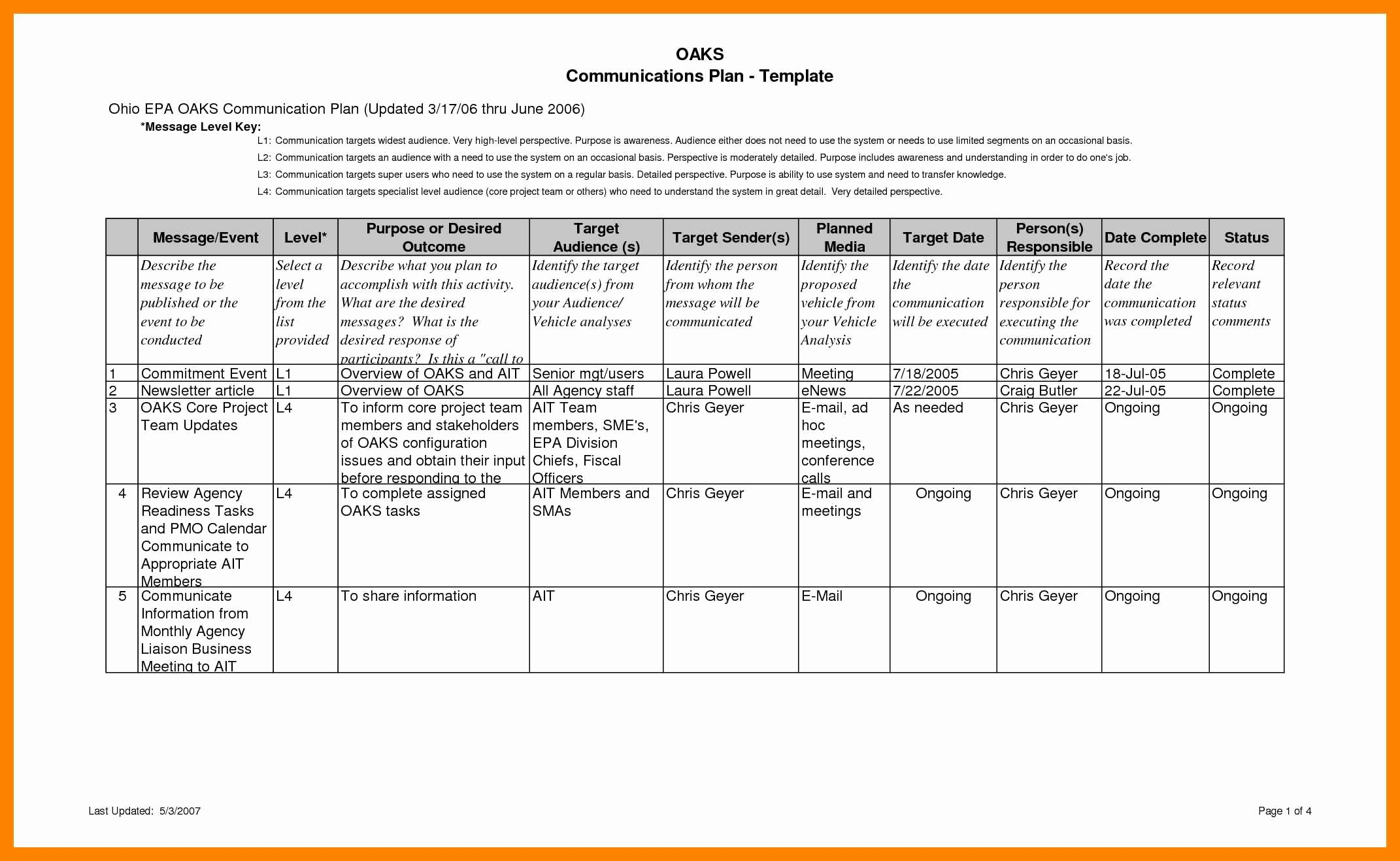 Project Management Communication Plan Template Unique 12 Internal Munications Plan Template Steamtraaleren