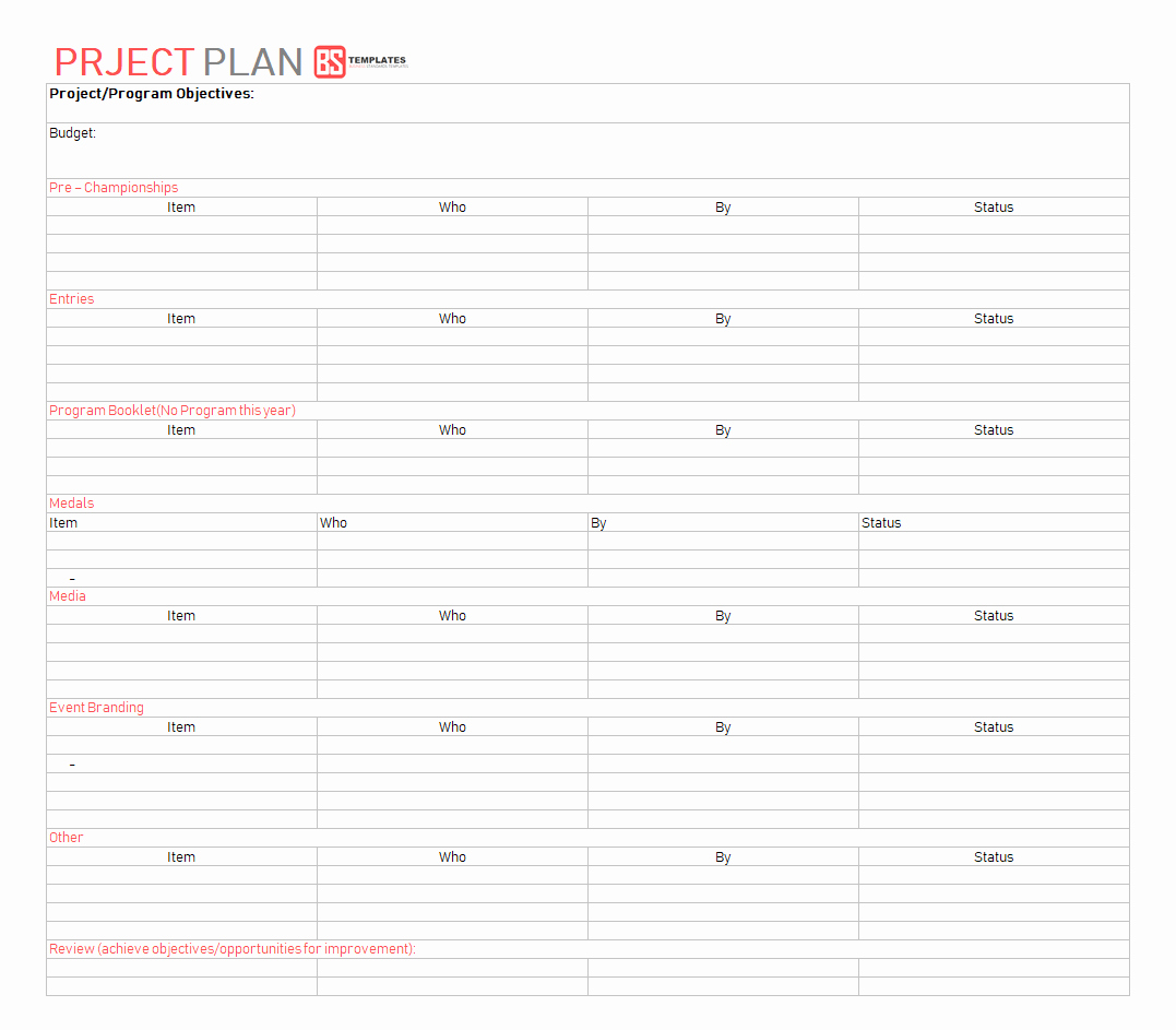 Project Management Plan Template Word Best Of Best Project Plan Template for Excel – 9 Free Word Excel