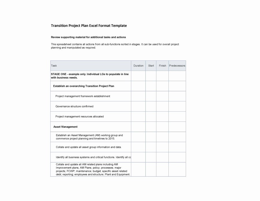 Project Management Transition Plan Template Inspirational 40 Transition Plan Templates Career Individual