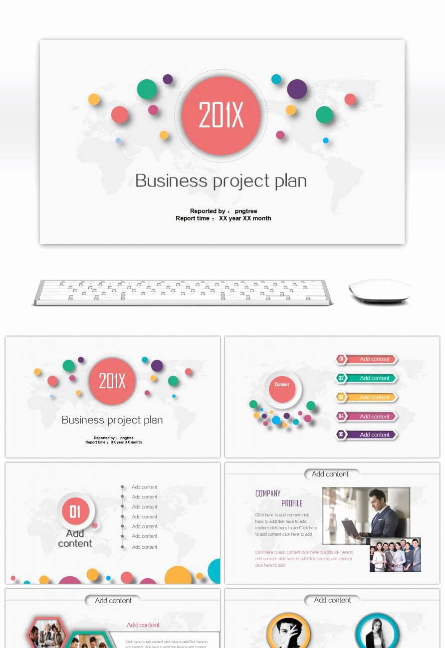 Project Plan Powerpoint Template Beautiful Awesome Multicolor Micro Stereoscopic Business Project