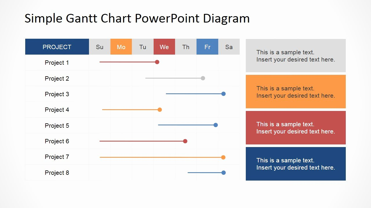 Project Plan Powerpoint Template Elegant Simple Gantt Chart Powerpoint Diagram Slidemodel