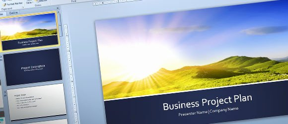 Project Plan Powerpoint Template New Free Business Plan Template for Powerpoint 2013