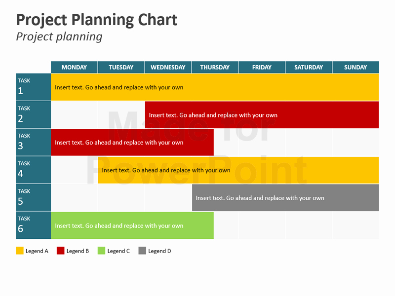 Project Plan Powerpoint Template New Project Planning Chart Powerpoint Slides