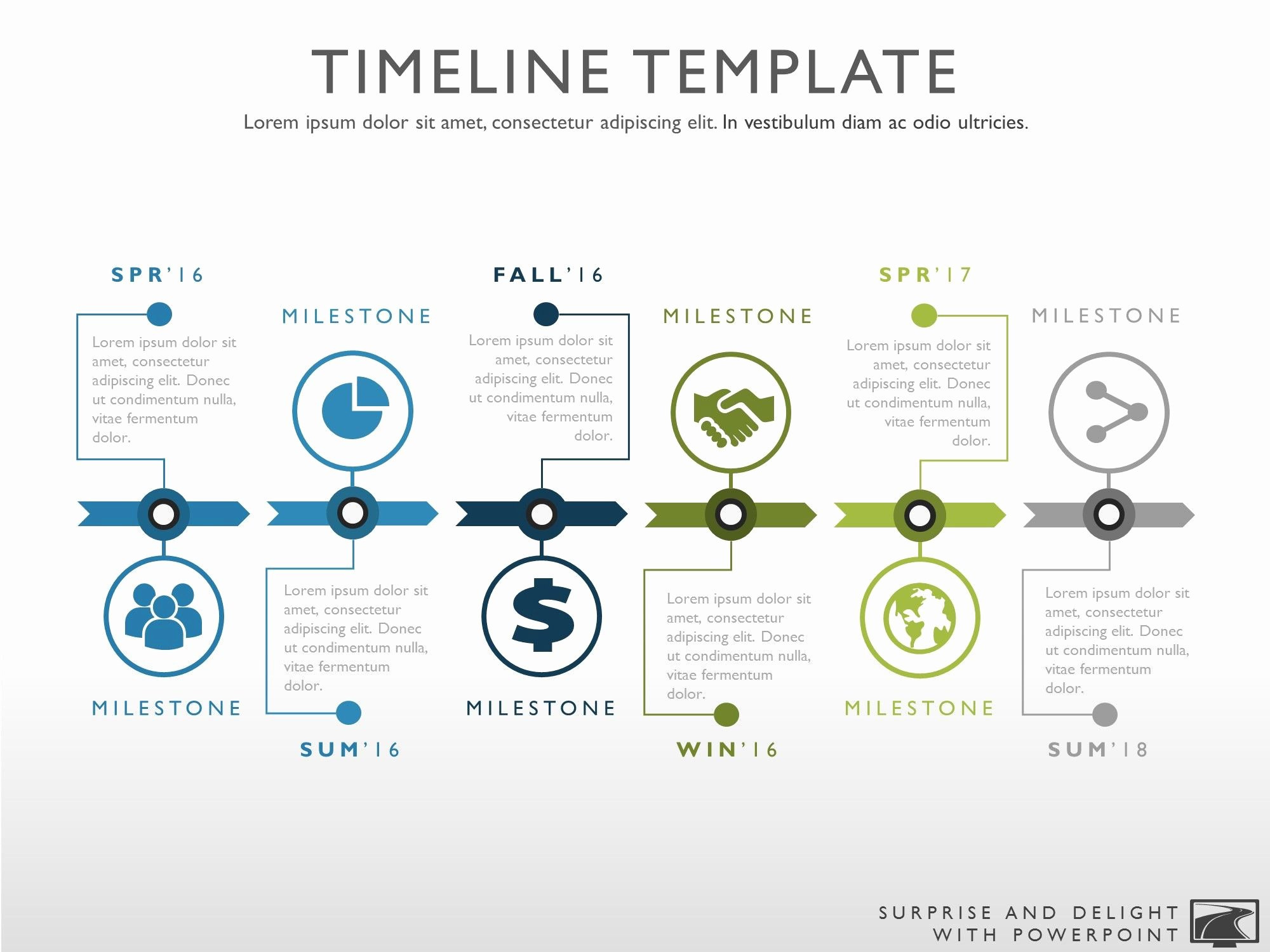 Project Plan Template Powerpoint Unique Timeline Template for Powerpoint Great Project Management