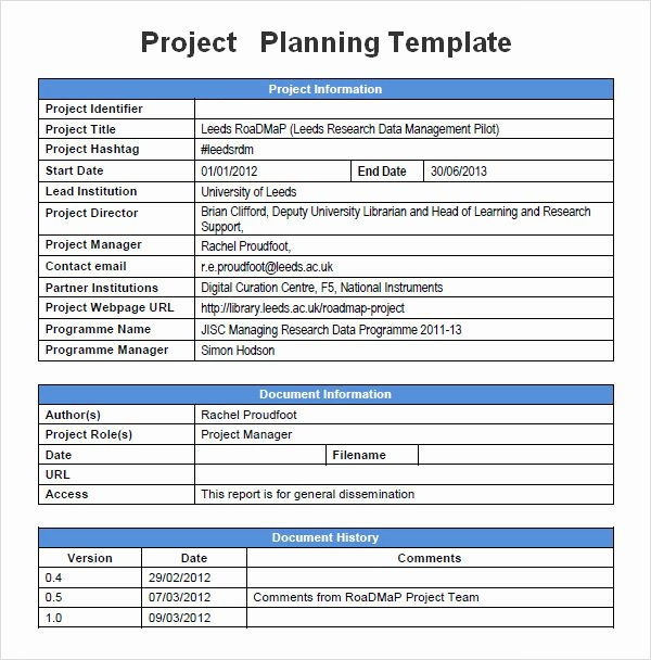 Project Plan Template Word Awesome Project Planning Template 5 Free Download for Word