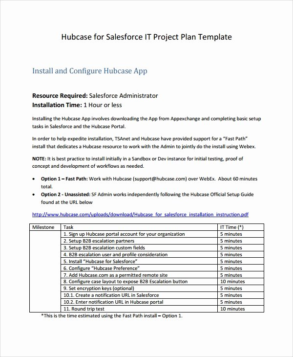 Project Work Plan Template Best Of 7 It Project Plan Templates